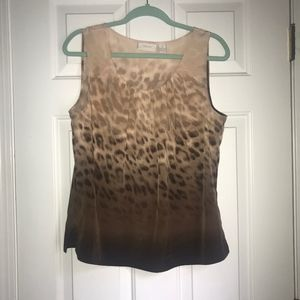 Chico's Peach/Brown Animal Print Tank Top